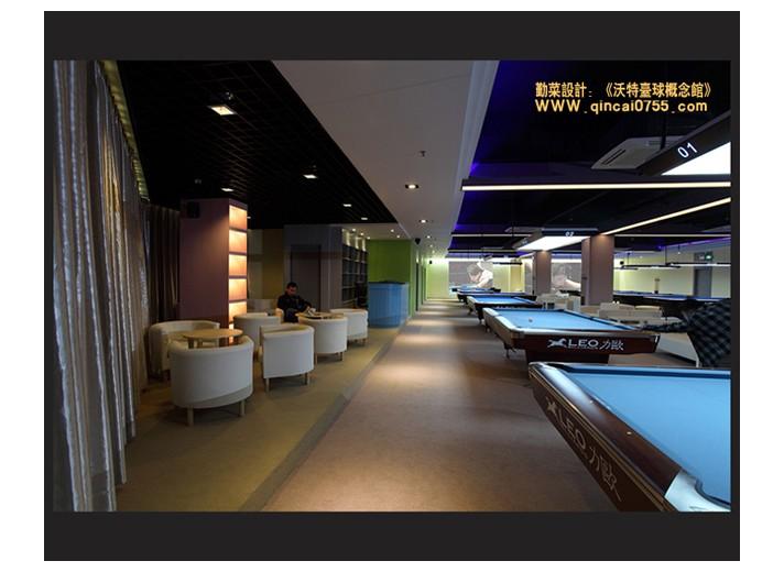 宝安沃特台球概念馆-房网设计师空间